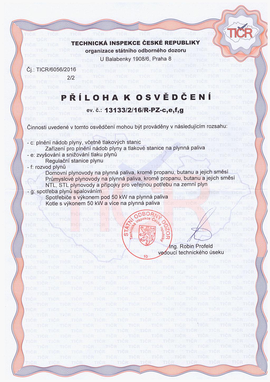 Technické oprávnenia veselka s.r.o. - TIČR nyč